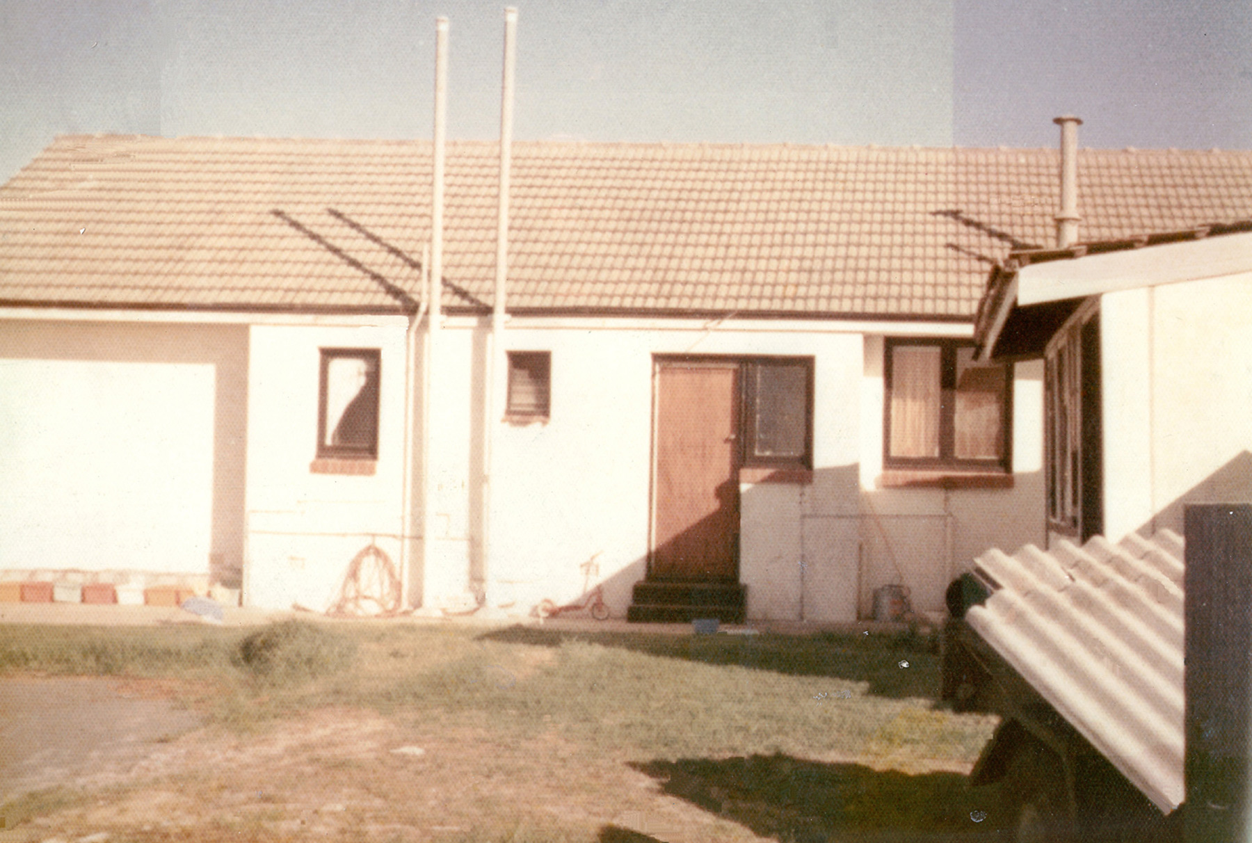 The original building in the early 1970's
